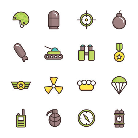Military and war icons. Army icons universal set for web and mobile