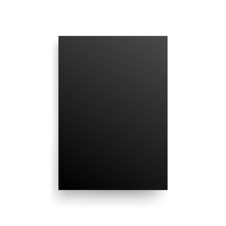 Mock-Up Realistic Black Poster Hanging. Empty White Vector Poster Template. Vettoriali