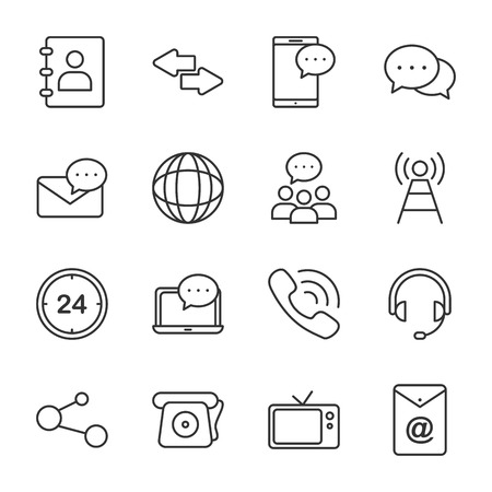 Communication Vector Icons. Universal communication icon to use in web and mobile UI.
