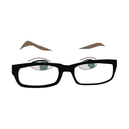 Eyes with glasses Illustration