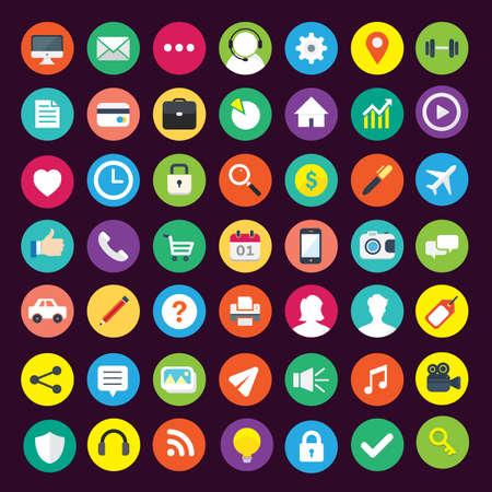 Business Vector Icons Ilustración de vector