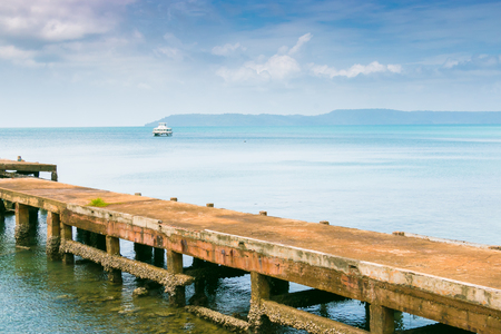 land scape: Land scape sea bridge Stock Photo