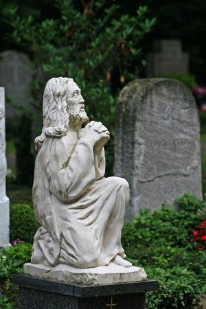 praying angel: Saint angel praying Stock Photo