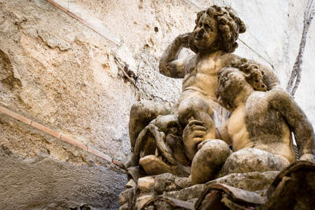 Cherub sculptures in Taormina, Sicily