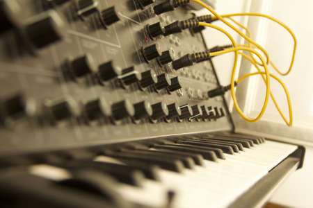 synthesiser: Vintage Synth Stock Photo