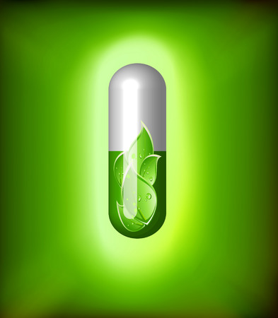 supplement: Green alternative medication concept