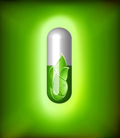 complimentary: Green alternative medication concept