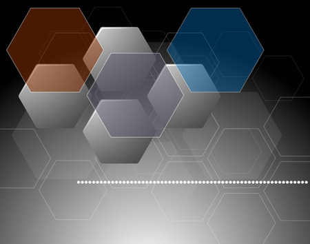 hexagon background: Abstract composition