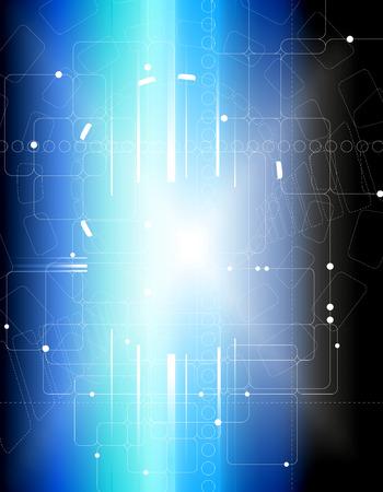 Abstract tech composition Vector