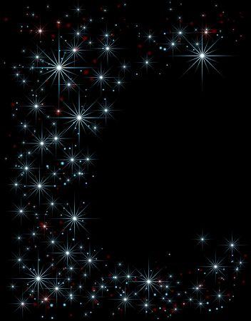 Stars over night sky decorative background