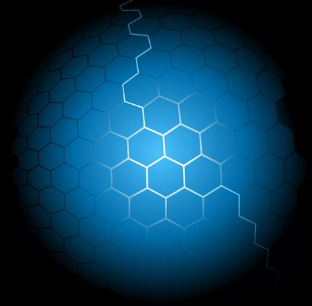 Blue abstract hexagon background Stock Vector - 6910736