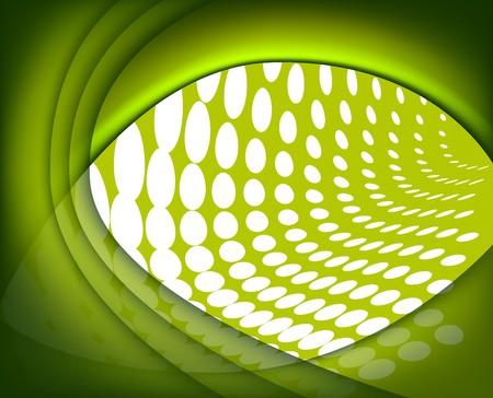 Abstract green composition  Stock Vector - 6911410