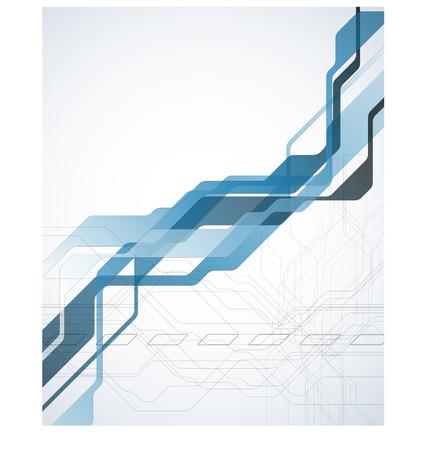Technology blue abstract background  Full editable vector illustration Illustration