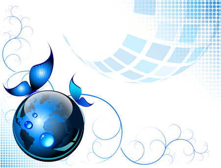 Blue abstract fantasy - vector illustration Vector