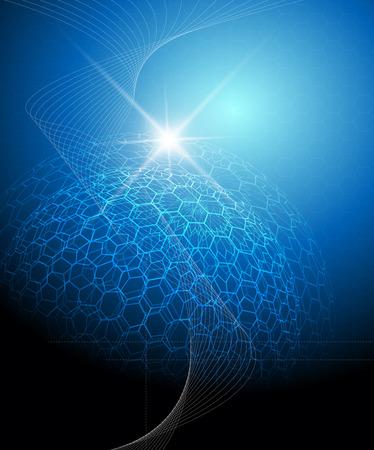 La tecnologia Blue background completa illustrazione vettoriale modificabile