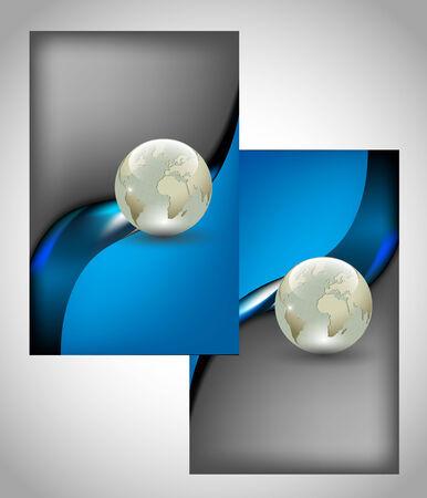 business card design: Set of two vertical business cards  Full editable vector illustration