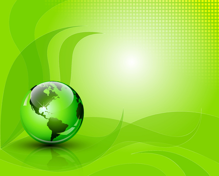 green environment: Think Green concept  environment and nature abstract composition  Full editable vector illustration