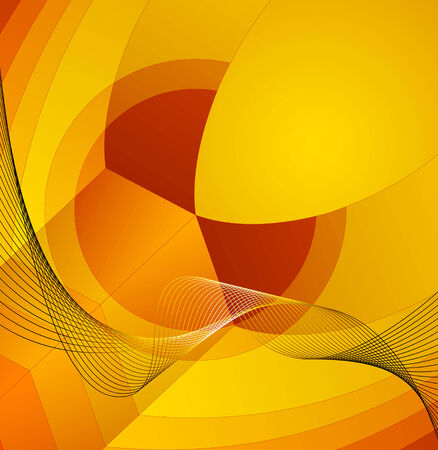 Abstract decorative background composition  Full editable vector illustration Vector