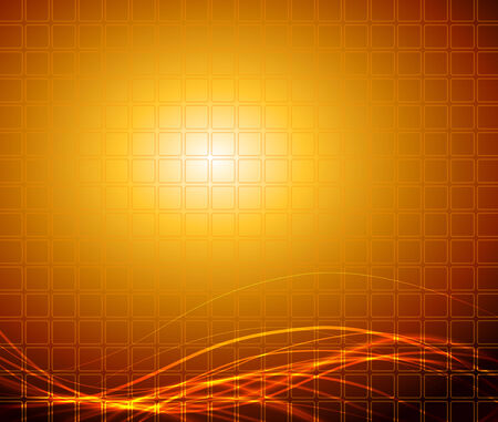 Abstract fantasy orange background  Full editable vector illustration Vector