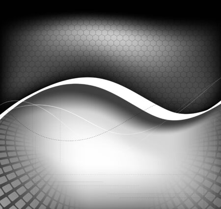 grayscale: Grayscale background composition  Full editable vector illustration Illustration