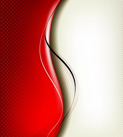 hi tech background: 3D red background composition  Full editable vector illustration Illustration