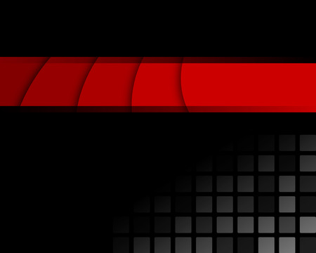 red and black: Black and red abstract background  Full editable vector illustration Illustration