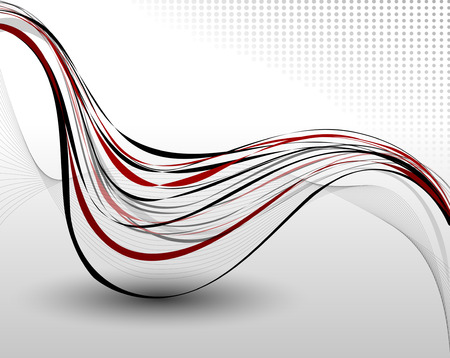 curve line: Abstract background composition  Full editable vector illustration