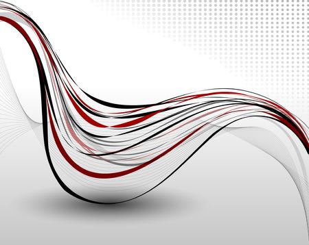 kurve: Abstrakt Hintergrund Komposition Voll editierbare Vektor-Illustration