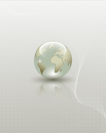 Abstract Earth globe composition  Full editable vector illustration