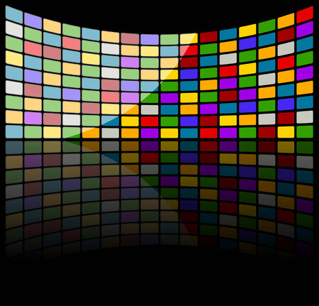 modules: Colorful abstract tech background  Full editable illustration