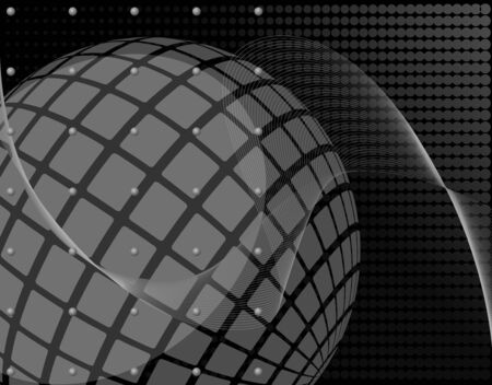 fragmentation: Grayscale abstract background  Full editable illustration Stock Photo