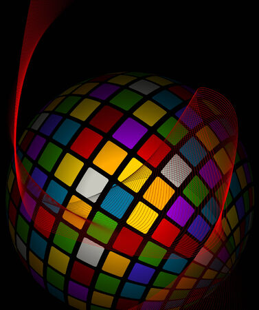 fragmentation: Colored abstract background