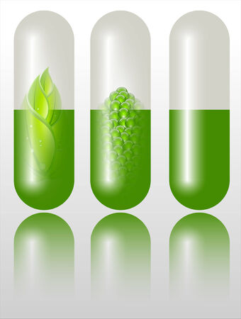 refracting: Green alternative medication concept  Stock Photo