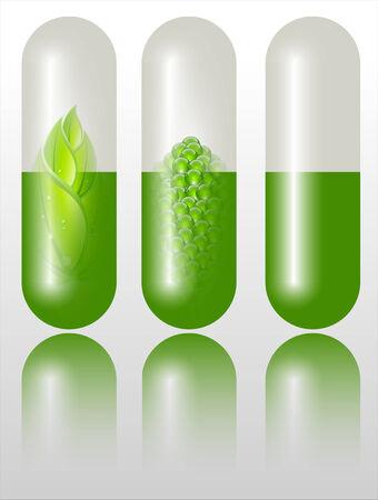 refracting: Green alternative medication concept  Stock Photo