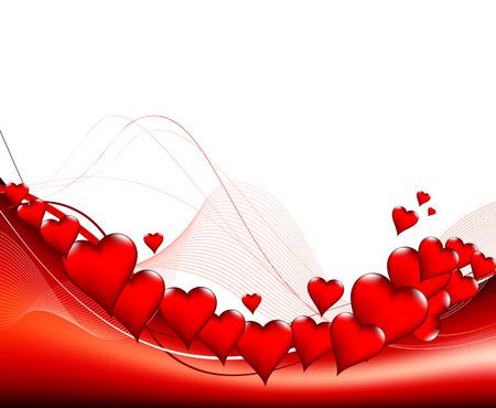full day: Valentines day card. Full editable vector illustration