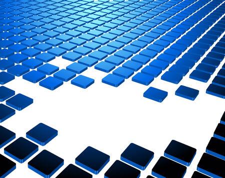 fragmentation: Blue abstract background composition. Full editable vector illustration Illustration