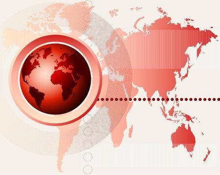 Abstract futuristic world map background. Full editable vector illustration Vector
