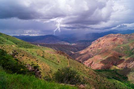 forked: lightning landscape Stock Photo