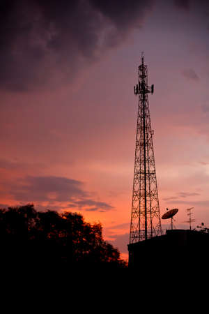 a pole takes to signal communicate in Thailand photo