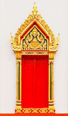 temple door in thailand photo