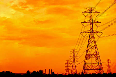 electricity high-tension post in Thailand ,