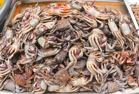 salted crab fully sell in the market photo