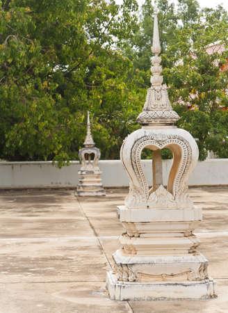Wheel Law temple in pagoda thailand photo