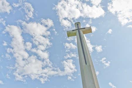 cross ,World War II Cemetery, Kanchanaburi, Thailand photo