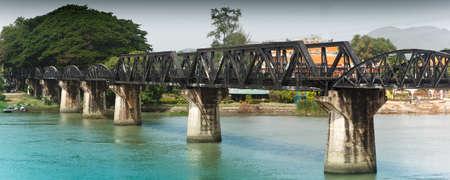 The River Kwai Bridge is a historic bridge in World War 2 photo