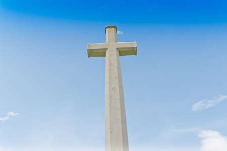 cross ,World War II Cemetery, Kanchanaburi, Thailand photo