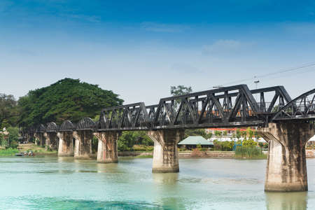 The River Kwai Bridge is a historic bridge in World War 2 photo