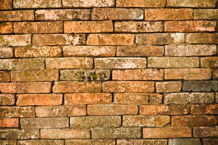Old brick walls, in a layer. Stock Photo