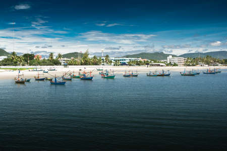Hua Hin beach, is famous, Thailand. photo