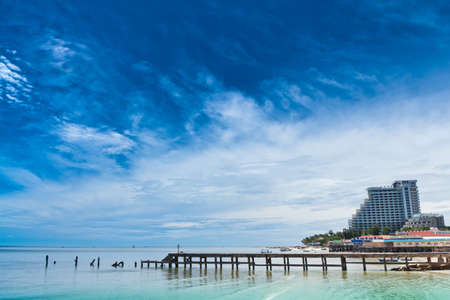 hua hin: Hua Hin beach, is famous, Thailand. Stock Photo